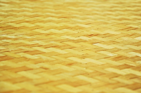 rattan mat: Woven bamboo  as background Stock Photo