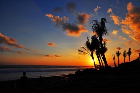 bali beach: Sunset at Bali beach - Indonesia