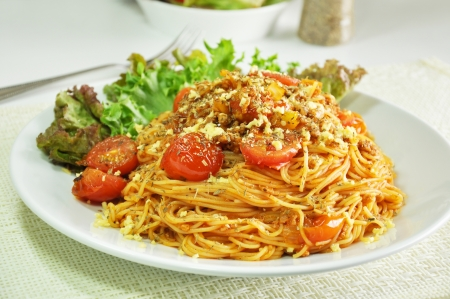 Bolognese spaghetti  photo