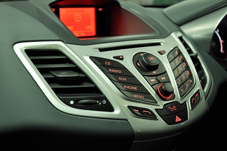Modern car radio control panel photo