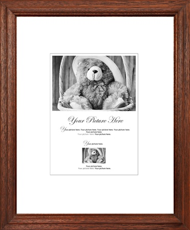 Wooden picture frame photo