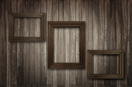 timber frame: Retro wooden picture frames