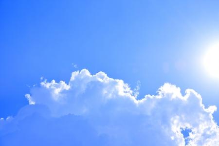 blue sky background: Beautiful blue sky as background