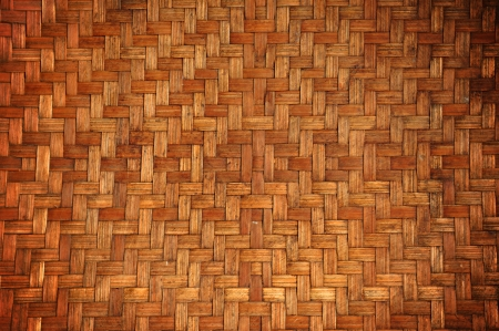 Old woven wood texture photo