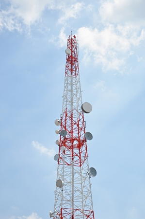 Telecommunication signal tower photo
