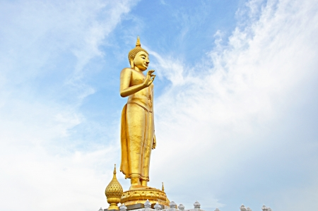 adore: Golden Buddha statue in Thailand Stock Photo
