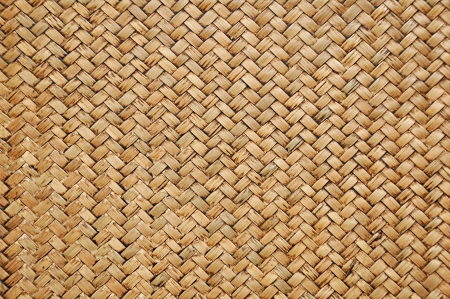 rattan mat: Woven wood pattern Stock Photo
