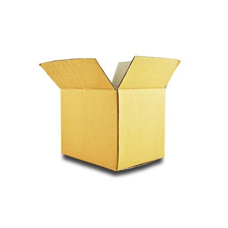 to unpack: Opened carton box - isolated Stock Photo