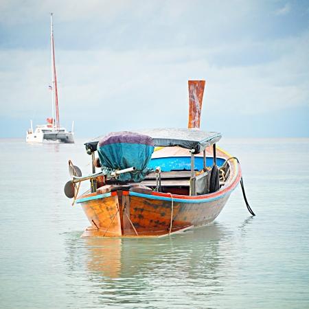 fischerei: Asiatischen Stil Longtailboot