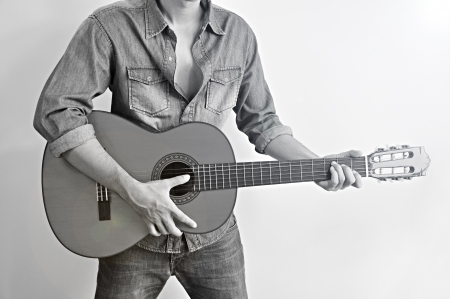 Man playing guitar : country style photo