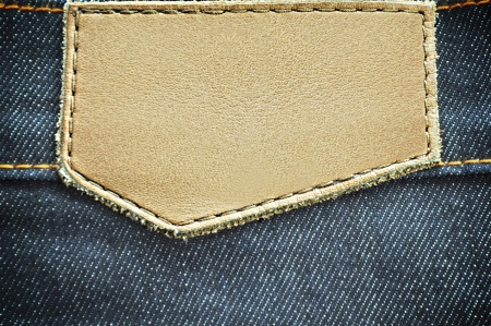 cloth back: Blank leather jeans label