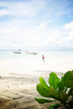 southern thailand: Sunny beach in southern Thailand Stock Photo