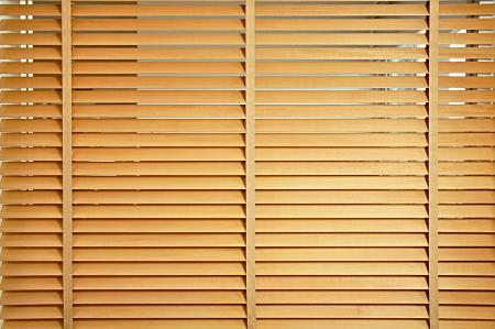 jalousie: Wood curtain or  jalousie Stock Photo