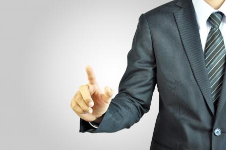 mano touch: Uomo d'affari di puntamento