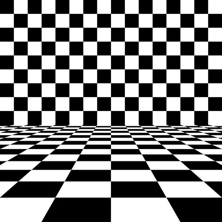 checker flag: Abstract black and white checkered background