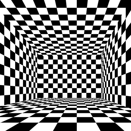 cavities: Black and white checkered  abstract blackground Stock Photo