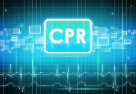 Modern CPR sign photo