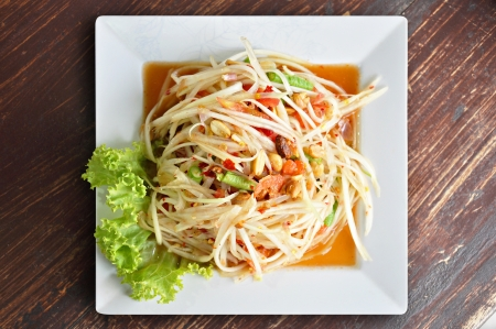 Thai spicy papaya salad - Somtam photo