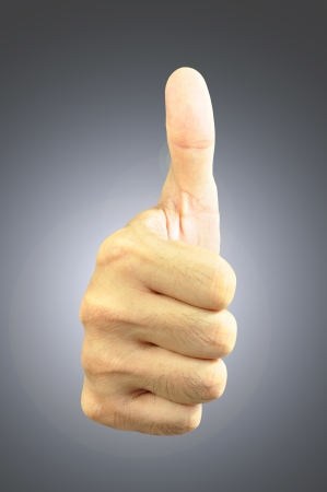 Thumb up - front view Stock Photo - 17511271