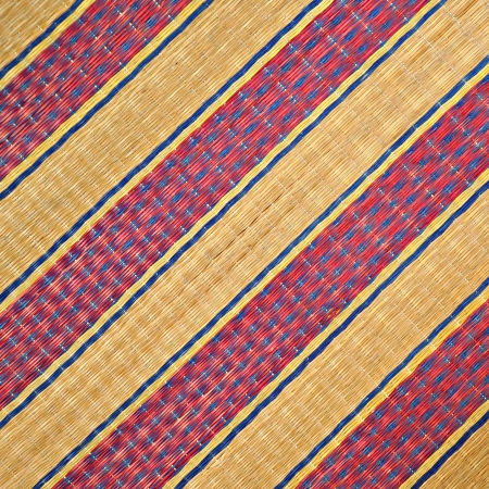 straw mat: Colorful reed mat texture background