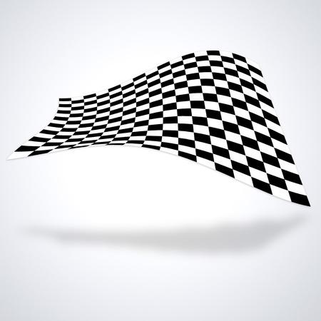 bandera carrera: Bandera a cuadros aislados en blanco baackground Foto de archivo