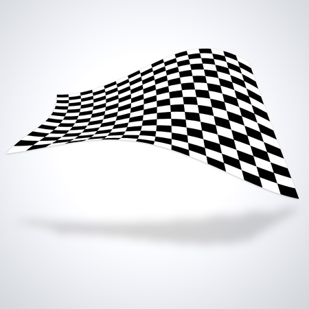 Checkered flag isolated on white baackground
