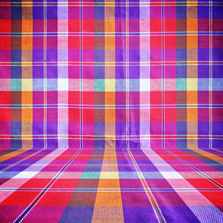 Colorful checkered loincloth fabric background Stock Photo - 17628348