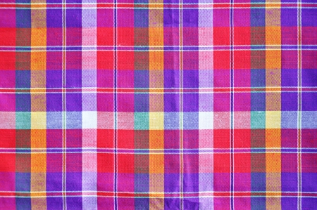 Colorful checkered loincloth fabric background photo