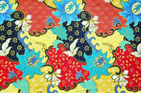 batik: Fond coloré batik tissu de tissu Banque d'images