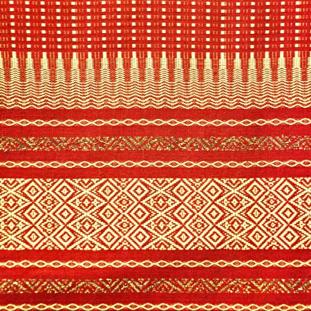 sarong: Thai silk fabric pattern background Stock Photo