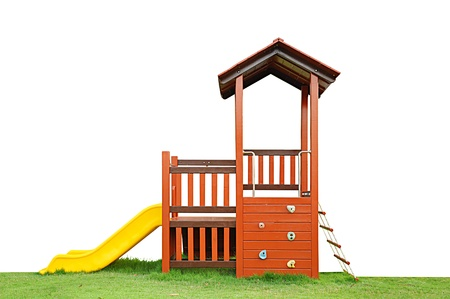 rope ladder: Playground on the grass Stock Photo