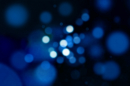 Blue bokeh abstract background - lens flare