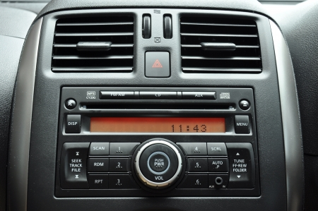 Car radio panel photo