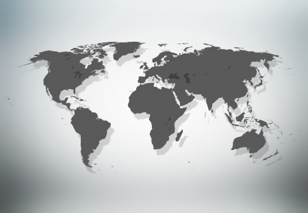 Precise world map photo