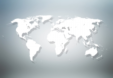 cartina del mondo: Preciso mappa del mondo Archivio Fotografico