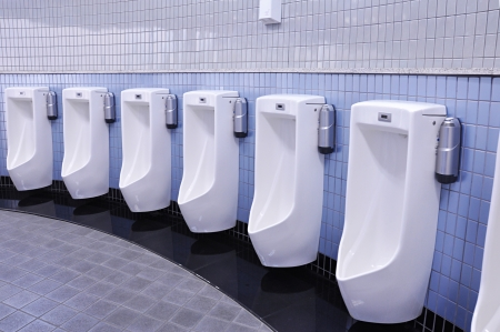 Urinals in public men toilet Stock Photo - 19917647