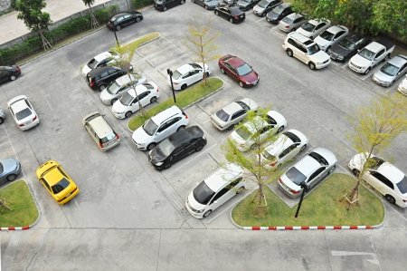 Car park - Top view photo