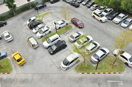 vacant lot: Car park - Top view