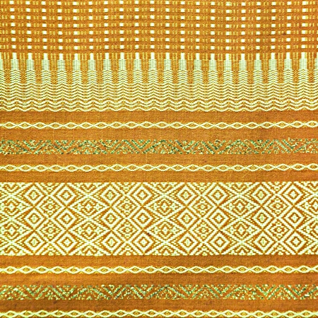 Traditional Thai fabric pattern as background photo