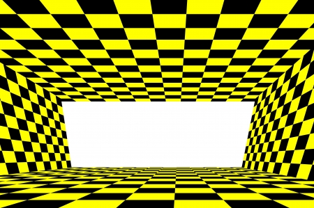 checker flag: Abstract yellow and black checker background Stock Photo