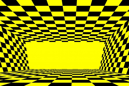 dimensions: Abstract yellow and black checker background Stock Photo