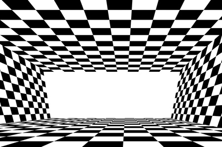 Abstract black and white checker background photo