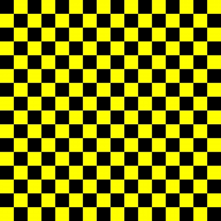 checker: Yellow and black checkered background