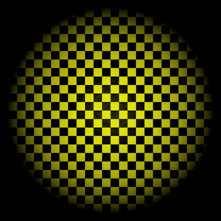 Yellow checkered background in circle Stock Photo - 19928183