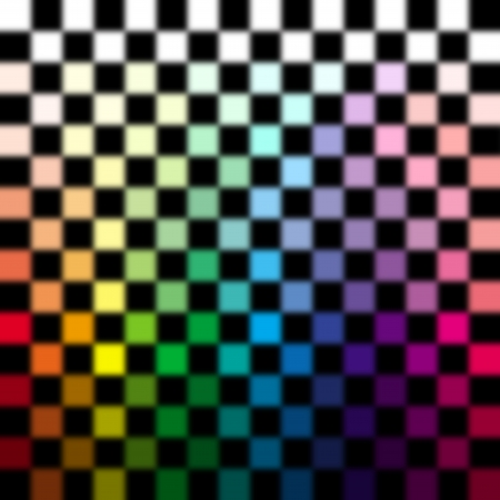 mixed race: Blur abstract colorful checkered background - 3D concept