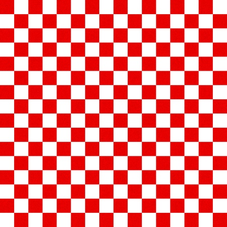 checker flag: Red and white checkered background
