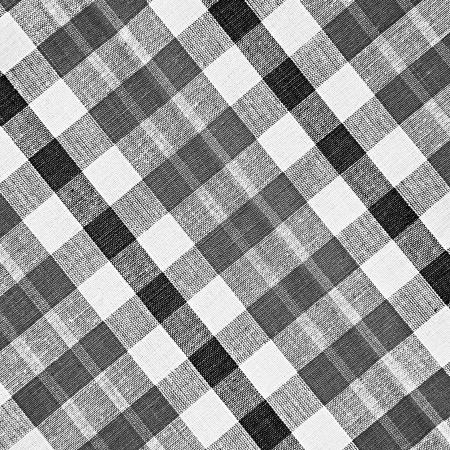 black silk: Black and white checkered fabric background