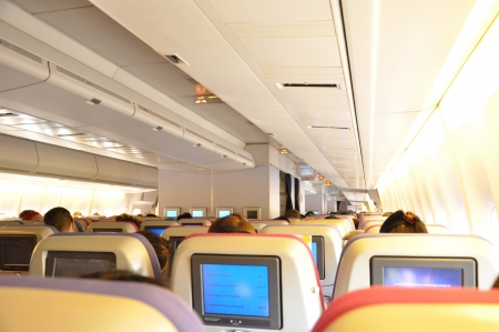 boeing 747: Cabina di aeromobili con passeggeri