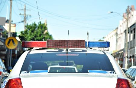 patrol officer: Police car