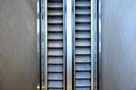 Escalator - top view photo